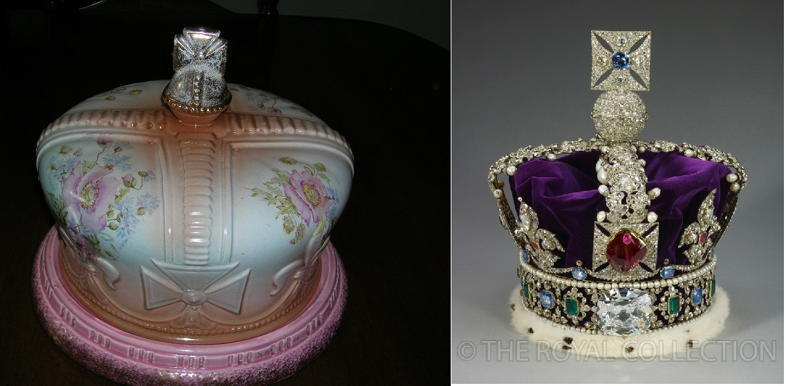 The 1897 Cheese Dish compared with the Imperial State Crown. I think I prefer Floyd's cheese dish.