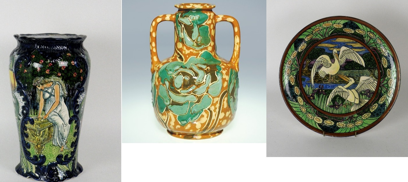Are all of these genuine Rhead ? Opinions invited. I have it good authority from Peter Mason of Mason Antiques who edits the http://www.rheadpottery.com/ website and who is an authority on Rhead´s pieces that two of them are and he has kindly donated the images.